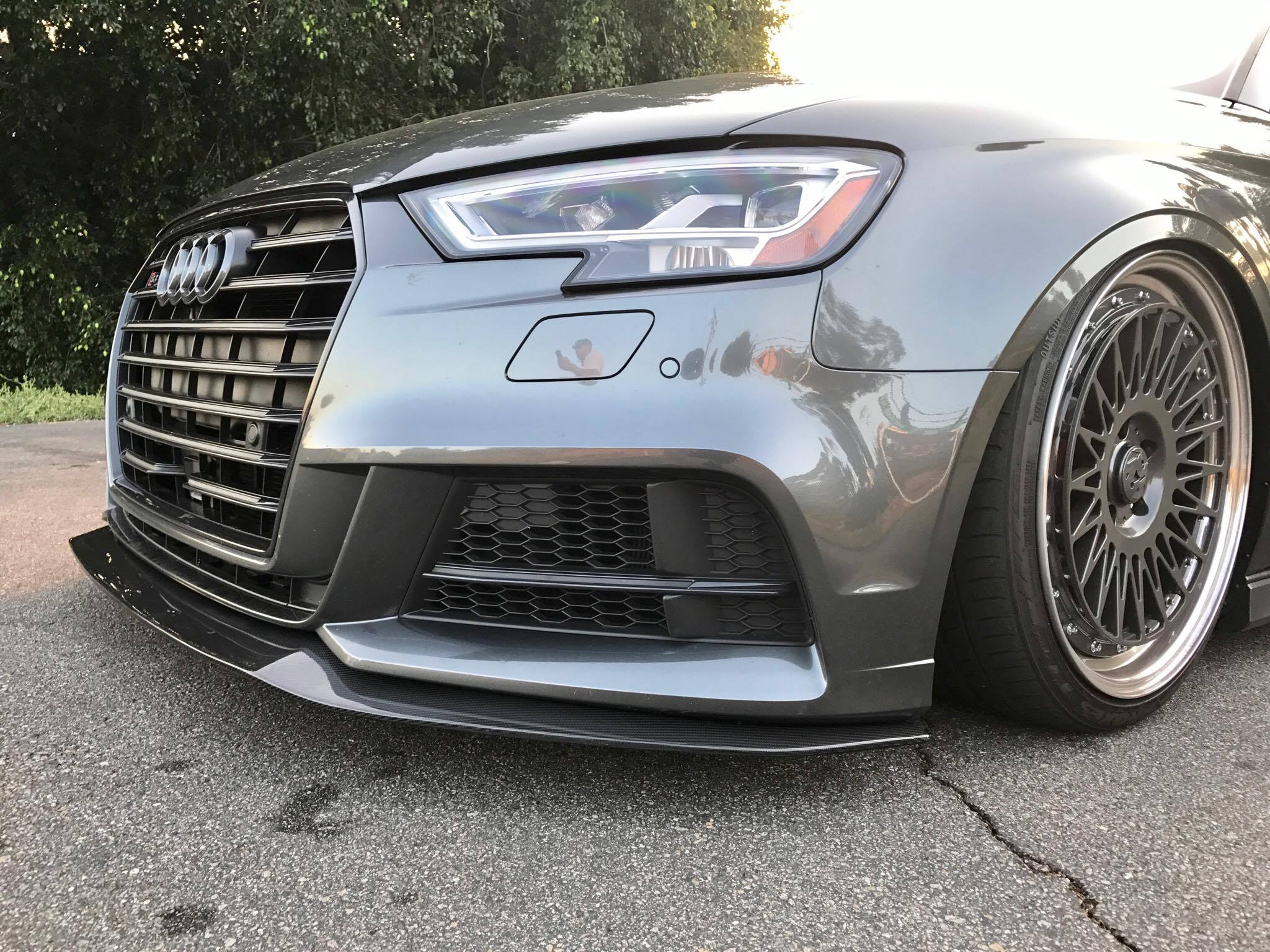 2017 audi s3 8v facelift aggressive carbon fiber front lip winn autosports. Black Bedroom Furniture Sets. Home Design Ideas