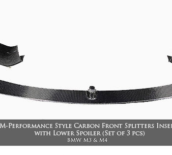 M-Performance Style Carbon Front Splitters Insert with Lower Spoiler