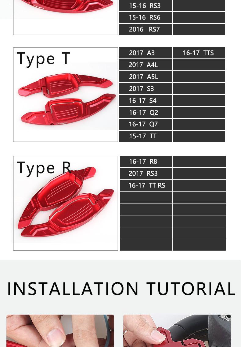 Axmotiv Audi Paddle Shift Extension - Winn Autosports