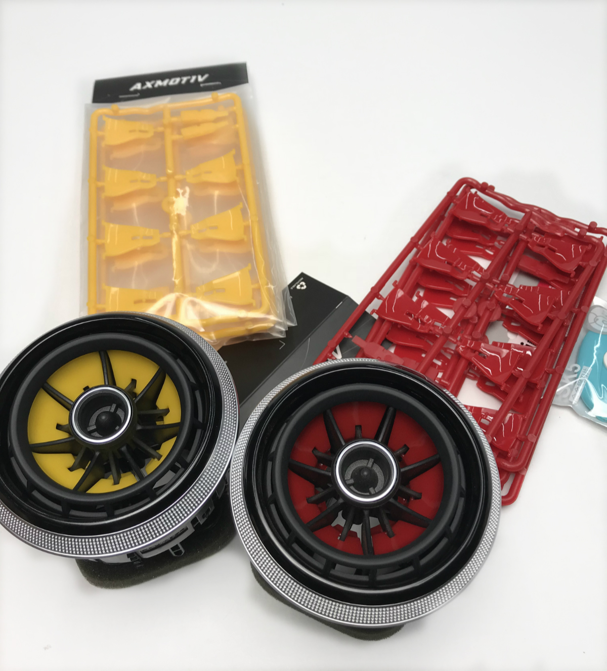 2014-2018 Audi A3 S3 Red/Yellow Air Vent Blade Replacement Kit