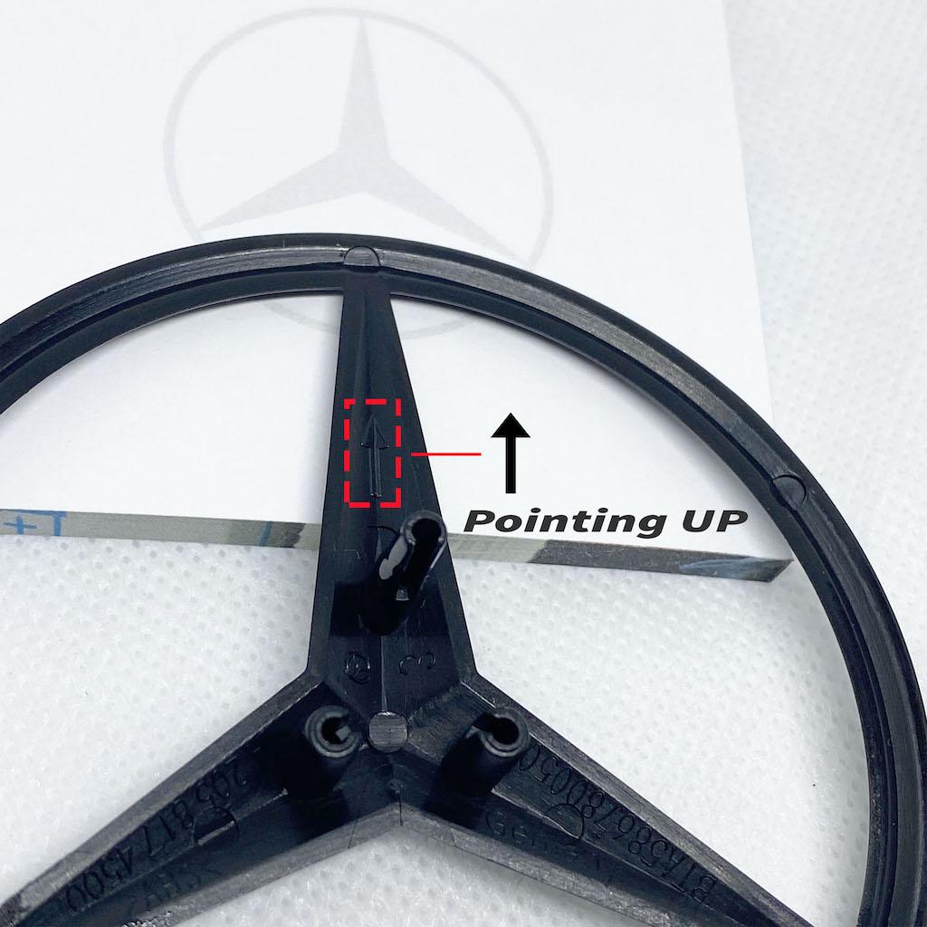 Mercedes C-CLASS W205 Genuine OE Gloss Black Rear Badge Star Logo Emblem 5DR 14+