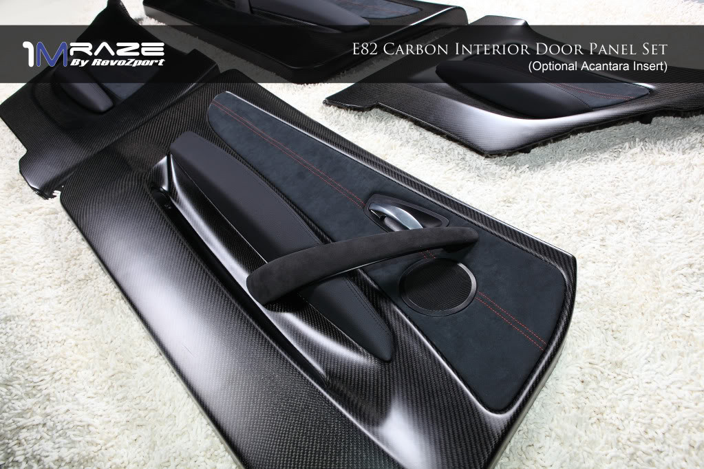 Optional: Alcantara Trim for E82 Carbon Interior Door Panels