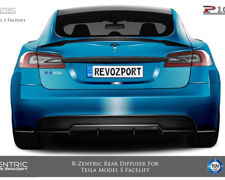 Tesla Model S (facelift) R-Zentric Rear Diffuser (CF
