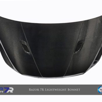 Razor 7R Lightweight Bonnet (Single Sided Carbon) - (Matt Dry Internal Carbon)